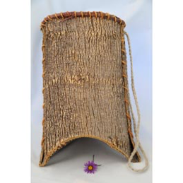 "Native American style baskets made of ash bark, are scored and folded. Approximate size 9"" high x 12"" wide x 7"" in diameter"